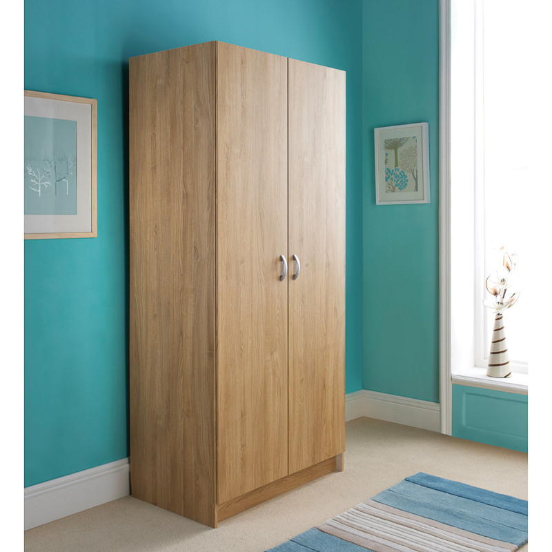 B&M: Scandinavian 2 Door Wardrobe | Bedroom Furniture