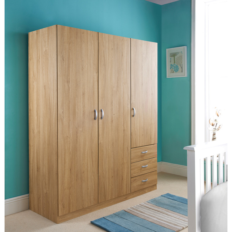 door wardrobe with drawers b amp m copenhagen 3 door 3 drawer 283837 b amp m 4