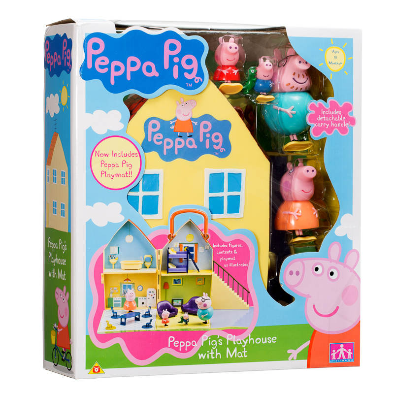 peppa pig peppa pig 39 s playhouse with figures daddy. Black Bedroom Furniture Sets. Home Design Ideas