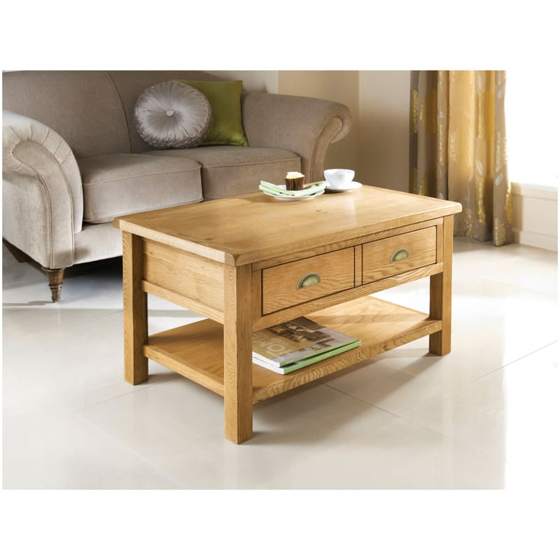 284692 Wiltshire Coffee Oak Table