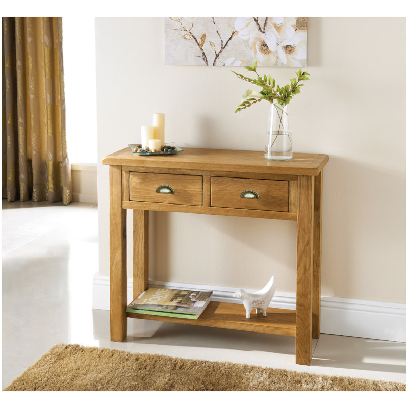 B Amp M Wiltshire Oak Console Table 319242 B Amp M