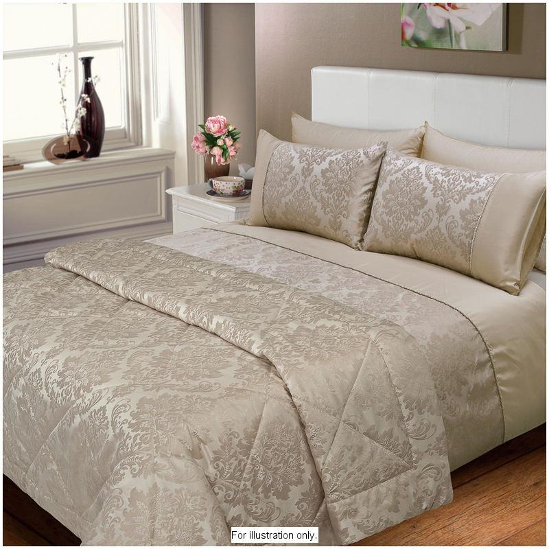 Elizabeth Jacquard Damask Bedspread Gold Bedding