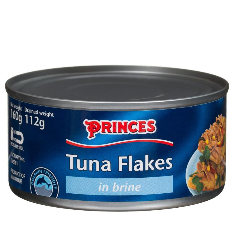 Princes tuna flakes in brine 160g tinned tuna groceries