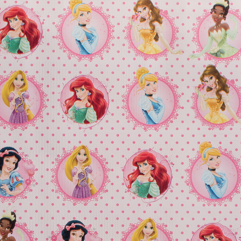 Character Wrapping Paper 3 Metres Disney Princesses