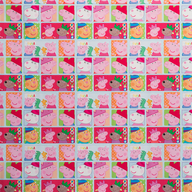 Character wrapping paper 3 metres peppa pig gift wrap