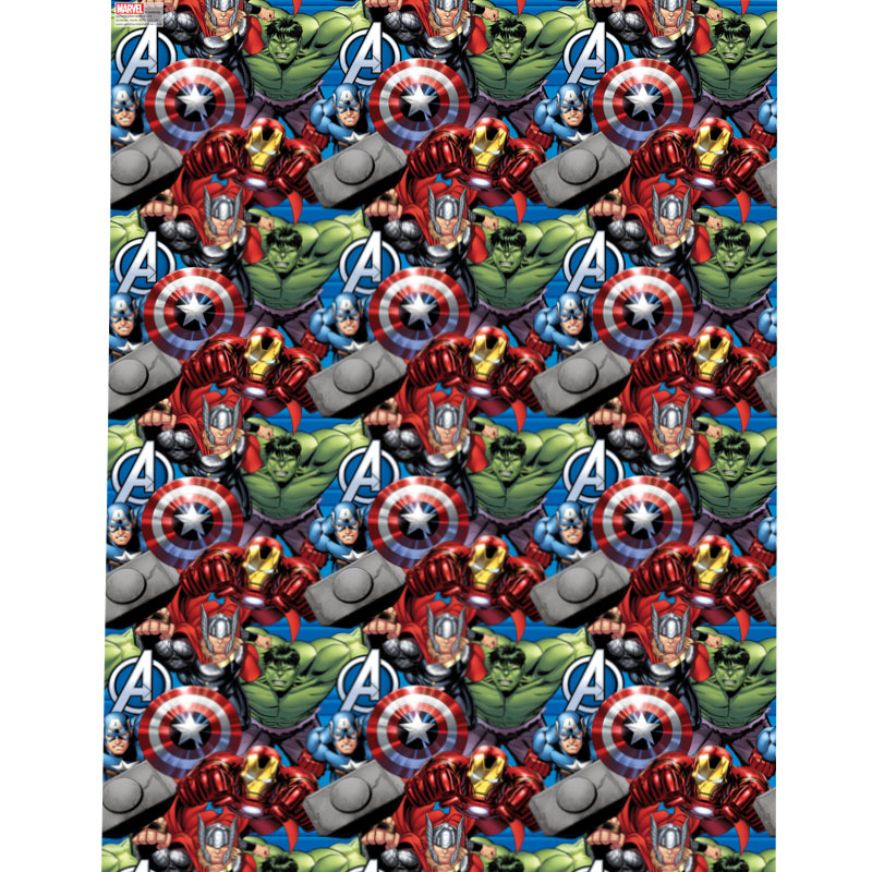 Marvel Baby Gifts Uk : Character wrapping paper avengers m gift wrap