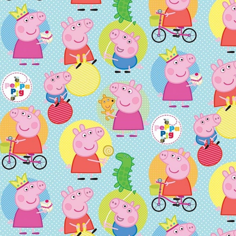 character wrapping paper peppa pig 3m gift wrap b m