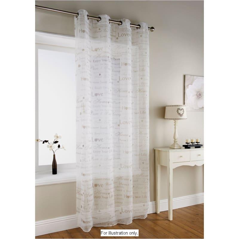 b m vintage text eyelet voile white 3215072 b m. Black Bedroom Furniture Sets. Home Design Ideas