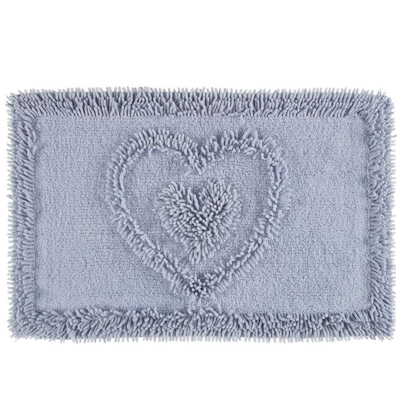 B&M: Heart Chenille Cotton Bathmat | Bathroom, Home