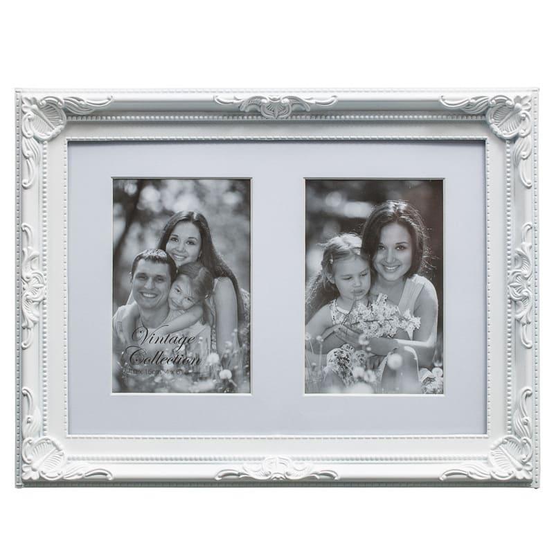 Vintage 2 Aperture Frame | Home | Photo Frames - B&M