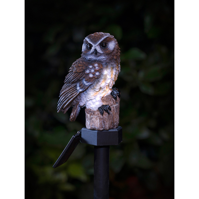 B Amp M Gt Tawny Owl Solar Stake Light 2868861