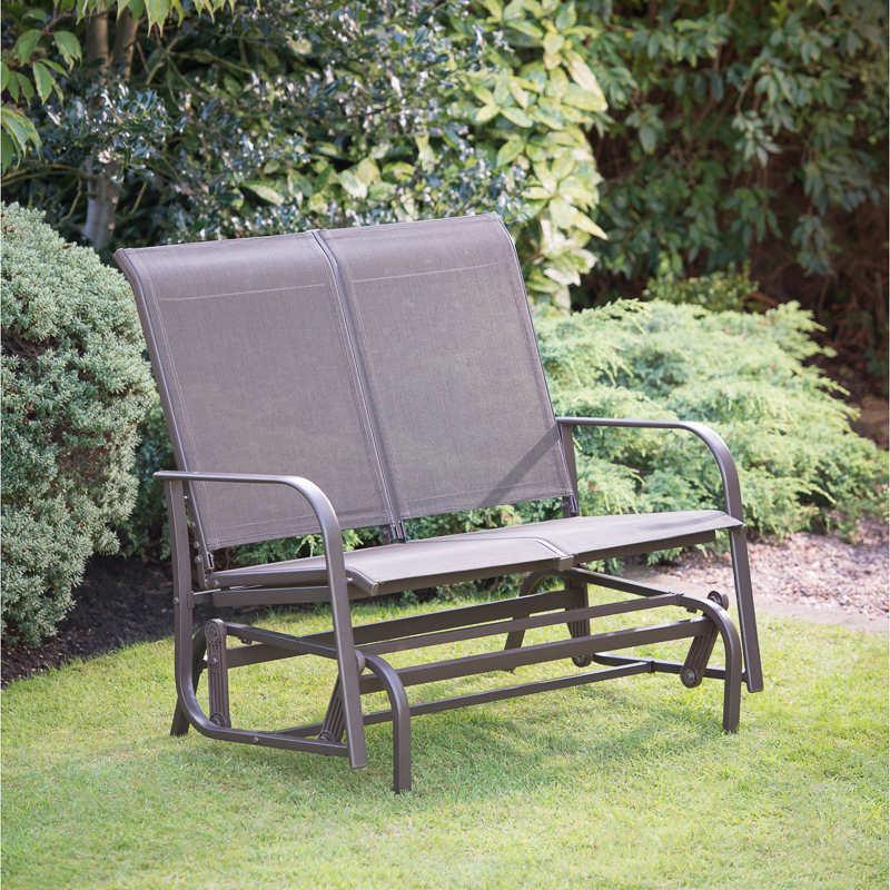 B Amp M Gt Devon Glider Garden Bench 286916