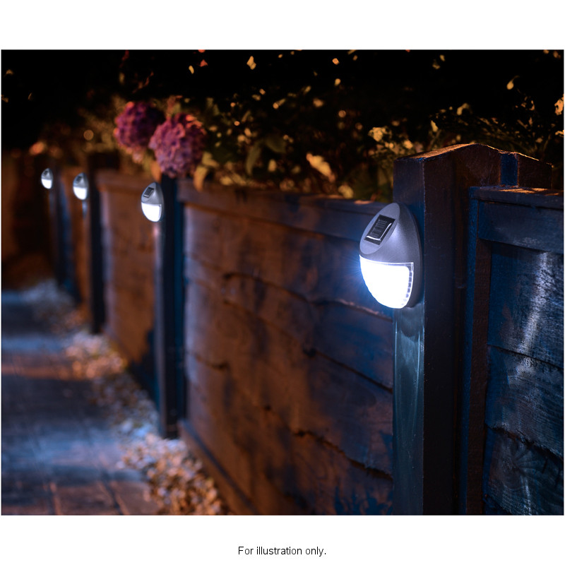 Solar Powered Fence Light Garden Amp Outdoor Solar Lights