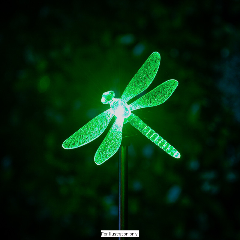 B Amp M Colour Changing Solar Stake Light Dragonfly