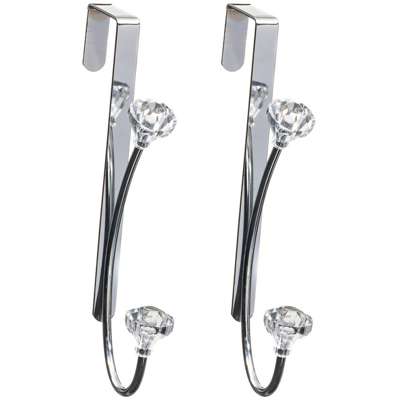 Wonderful 287146 Set Of 2 Jewel Overdoor Hooks 21