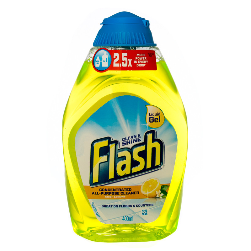 Bathroom Flash Crisps Lemons Liquid Gel All Purpose Cleaner 400ml