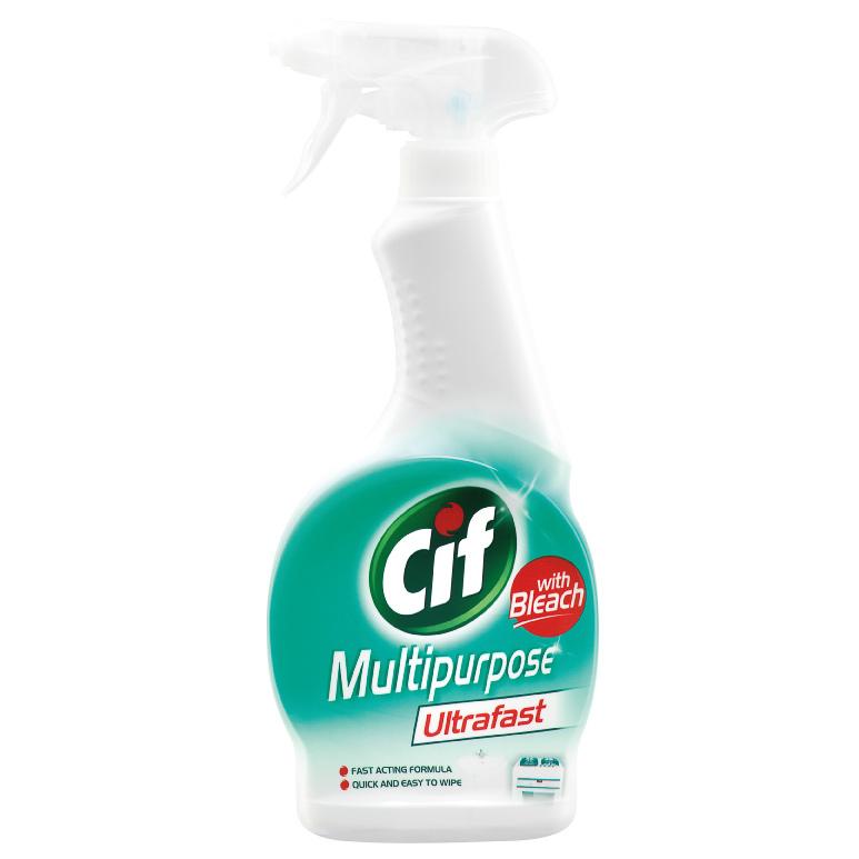B Amp M Cif Multi Purpose Cleaner Ultrafast 450ml 287595 B Amp M