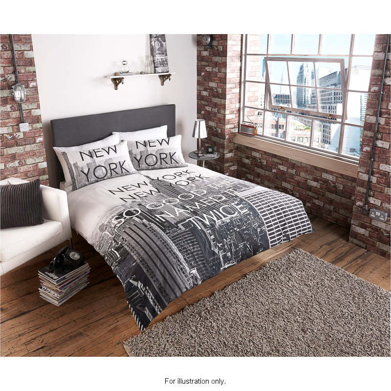 King Of New York Scene: B&M New York City Scene King Duvet Set - 2967991