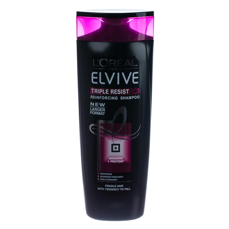 L Oreal Elvive Triple Resist Reinforcing Shampoo 500ml