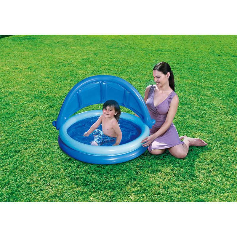 B m baby shaded paddling pool 135cm 322276 b m for Paddling pool heater