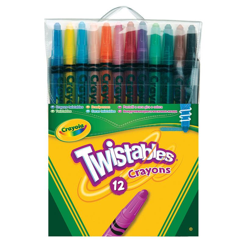 B Amp M Crayola 12 Twistable Crayons 288132 B Amp M