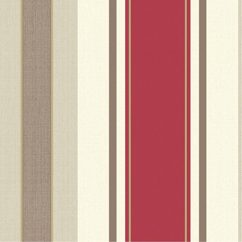 Opera Dante Red Stripe Wallpaper Decorating Diy B Amp M