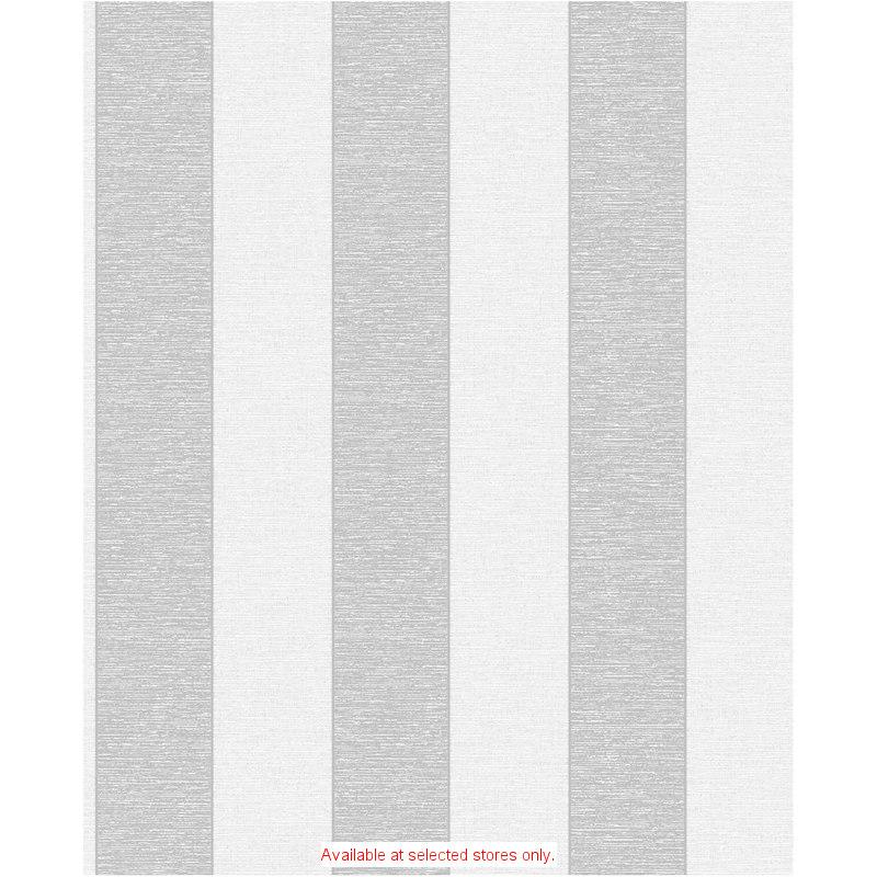 Fine Decor Torino White Silver Stripe Wallpaper 312102 B Amp M
