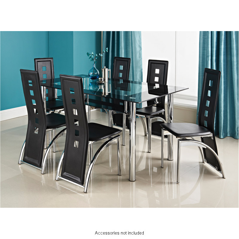 Phoenix dining set 7pc dining room furniture b m for B m dining room furniture