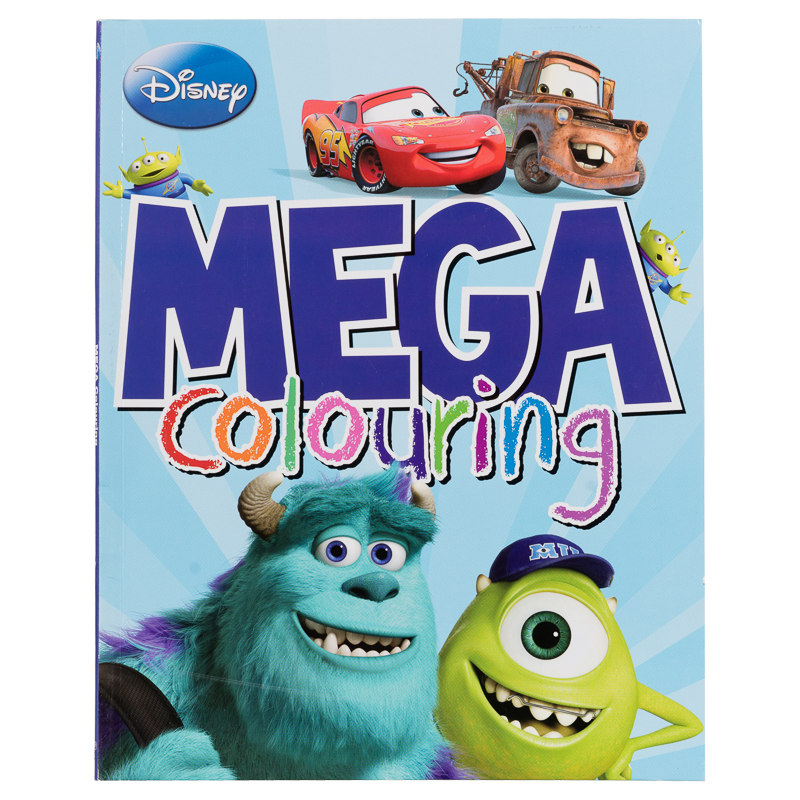 Mega Colouring Books Disney Pixar Kids Arts Crafts Books