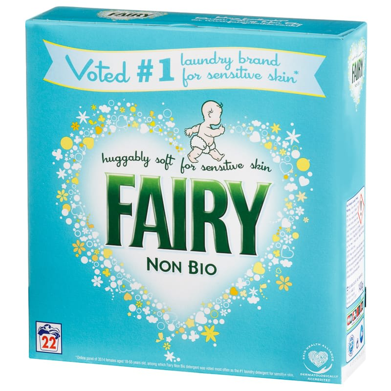 Fairy Non Bio Washing Powder 22W | Laundry Detergent - B&M