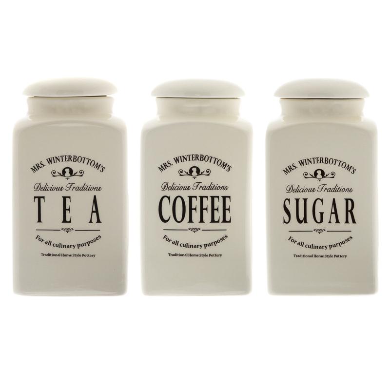 B Amp M Gt Mrs Winterbottom S Ceramic Tea Coffee Amp Sugar Set