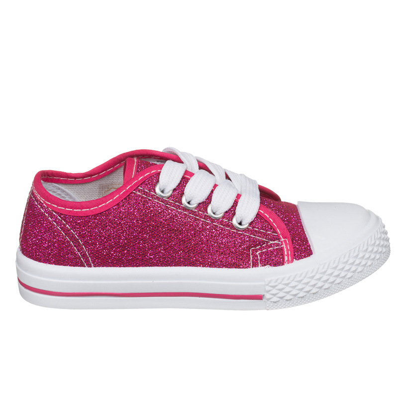 B Amp M Gt Girls Toddler Glitter Canvas Shoes Pink 2893291