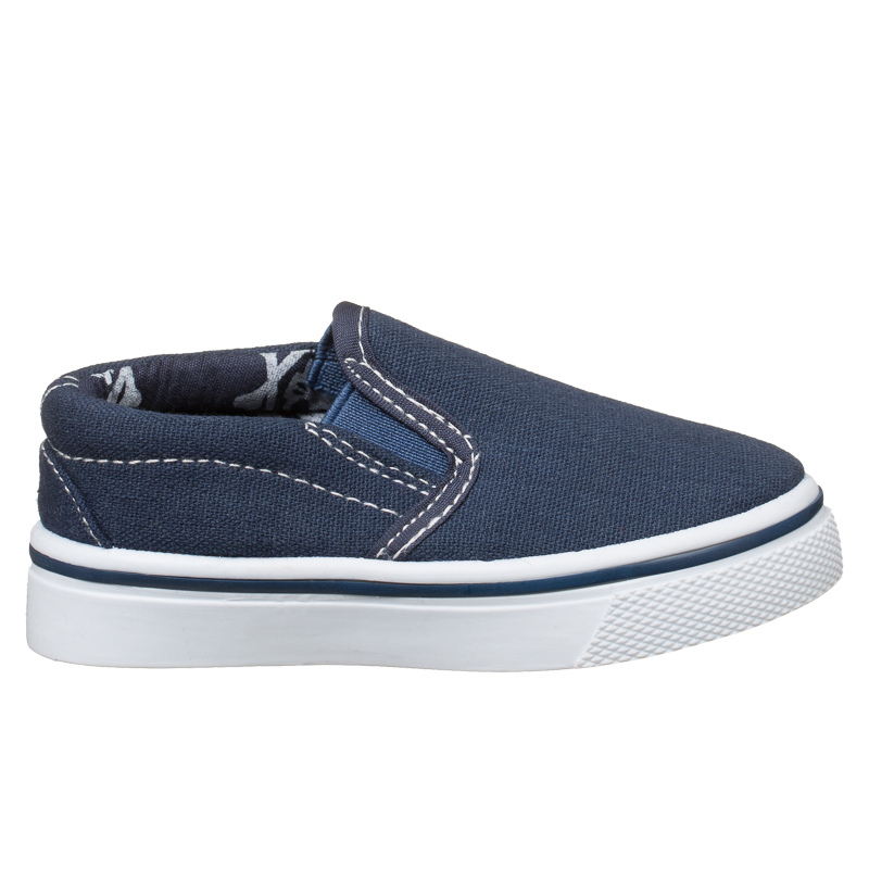 b m gt boys toddler slip on canvas shoes blue 2893301