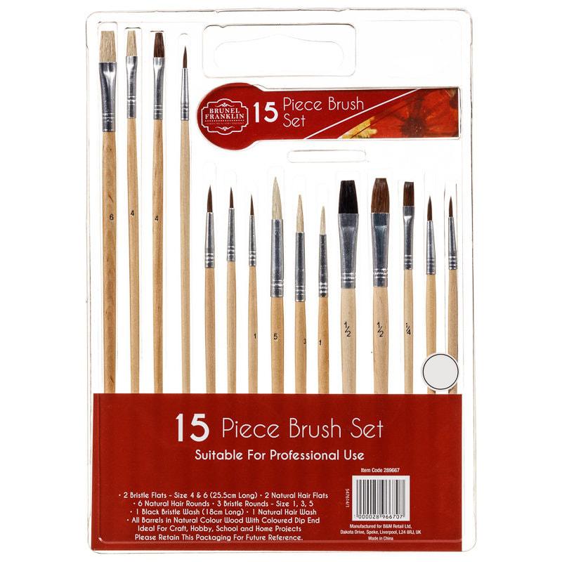 Brunel Franklin Brush Set 15pk