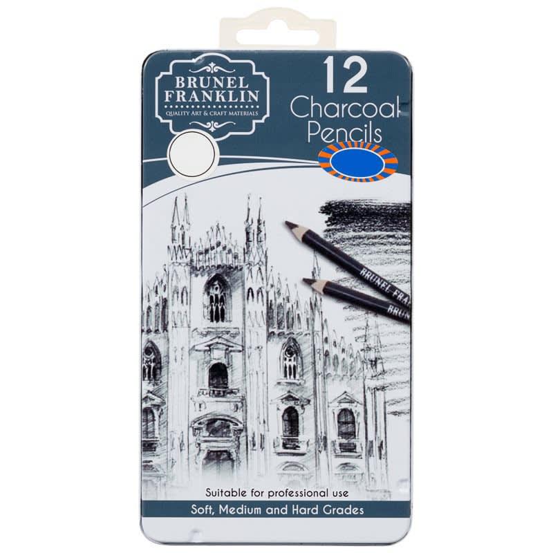 Brunel Franklin Drawing Pencils 12pk - Charcoal
