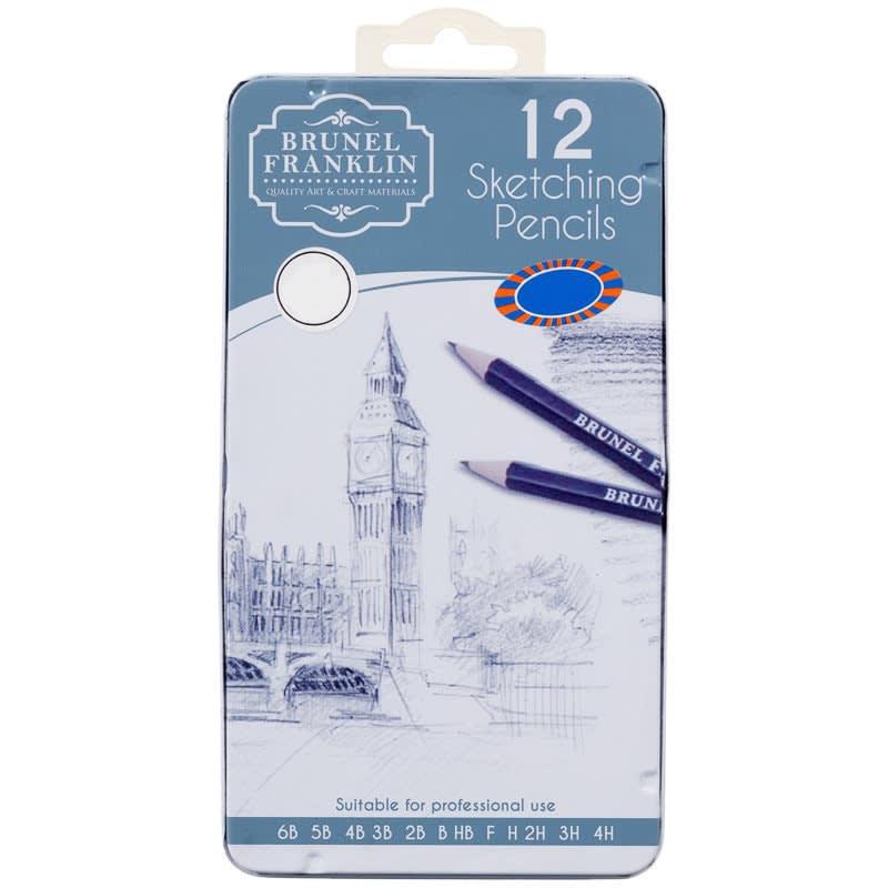 Brunel Franklin Drawing Pencils 12pk - Sketching