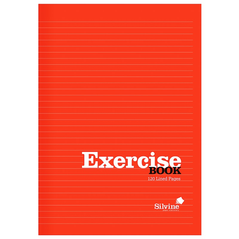 Silvine Exercise Book A4 - Red