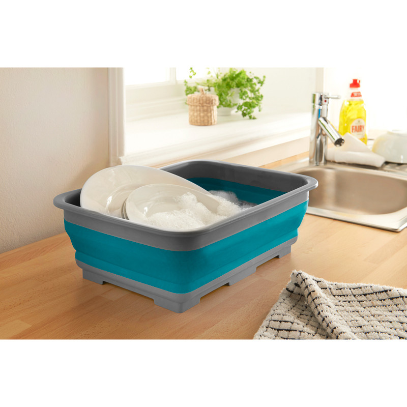 collapsible washing up bowl teal camping bowl. Black Bedroom Furniture Sets. Home Design Ideas