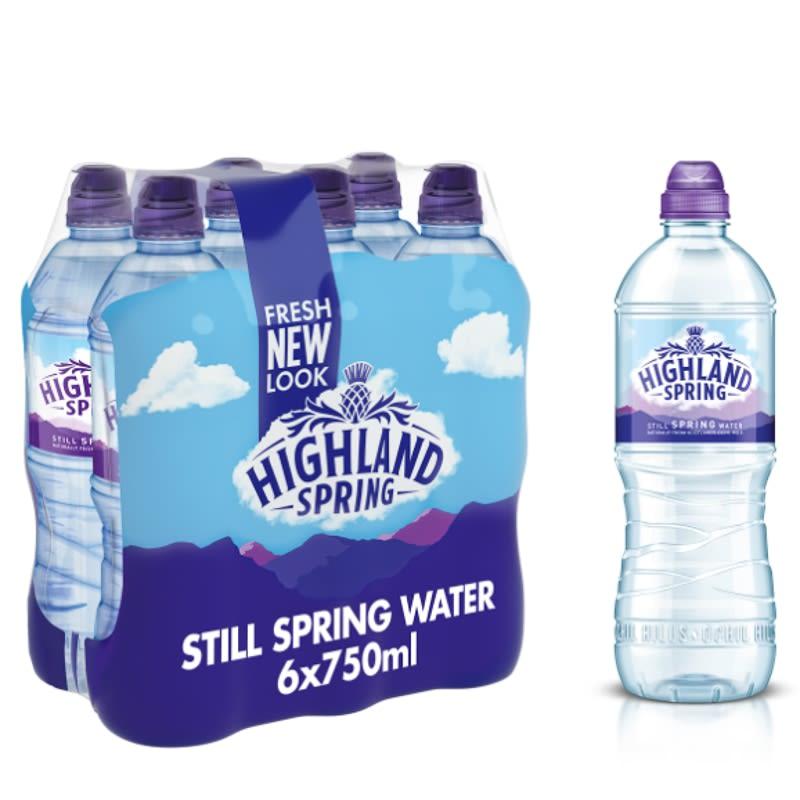 Highland Spring Still Spring Water 6 X 750ml Bottled