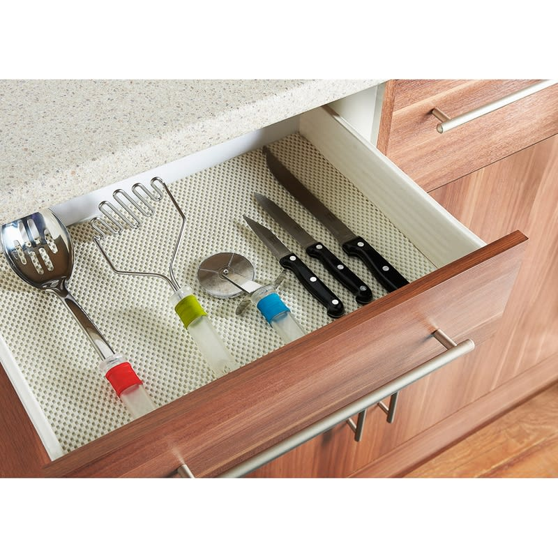 Addis Anti-Slip Kitchen Surface & Drawer Liner - White