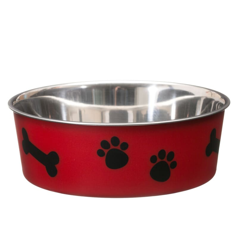 Non-Slip Stainless Steel Bowl - Red
