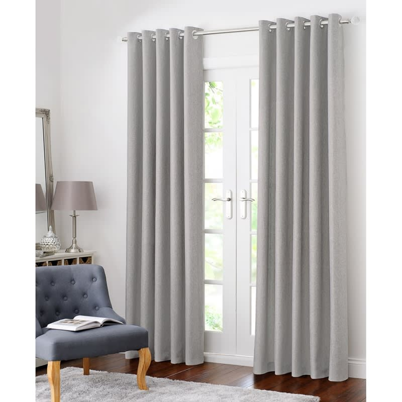 B Amp M Colorado Hopsack Fully Lined Eyelet Curtain 90 X 90
