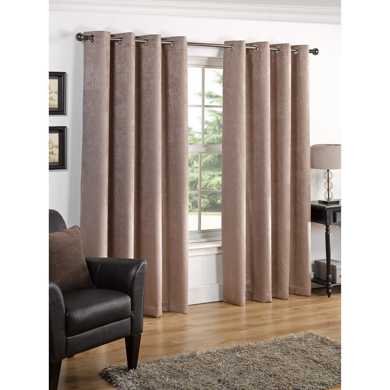 pencil dyed pleat off curtain curtains blackout plain dove out faux suede mill spice black