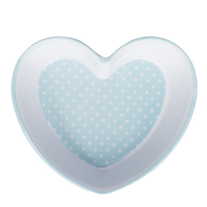 B Amp M Heart Shaped Bowl Blue Spots 3094611 B Amp M