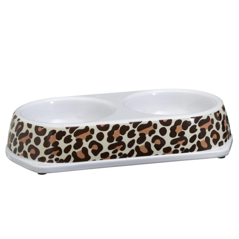double pet bowl animal print - Cat Bowls