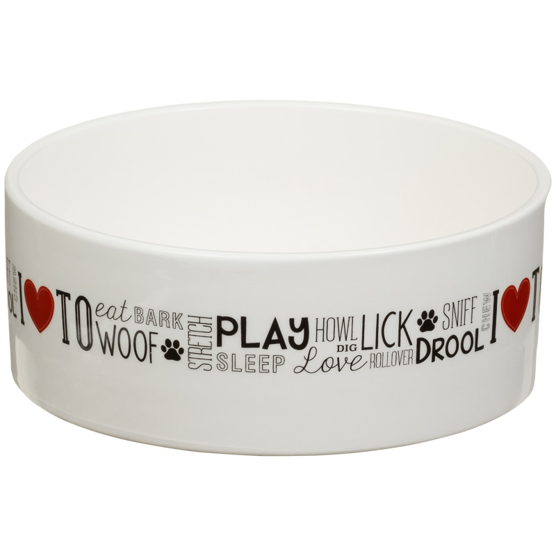 Large Ceramic Pet Bowl - Dogs Love To...