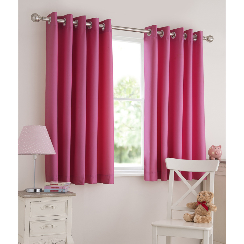Light pink eyelet curtains for Kids curtain company