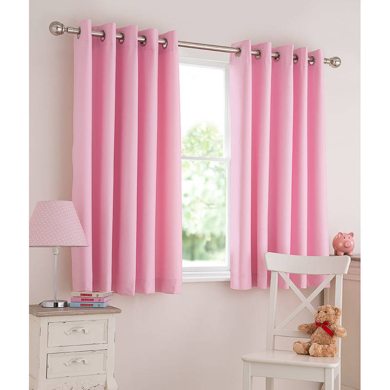 Baby Nursery Curtains Pink Curtains Kids Curtains Pair: Silentnight Kids Light Reducing Eyelet Curtains
