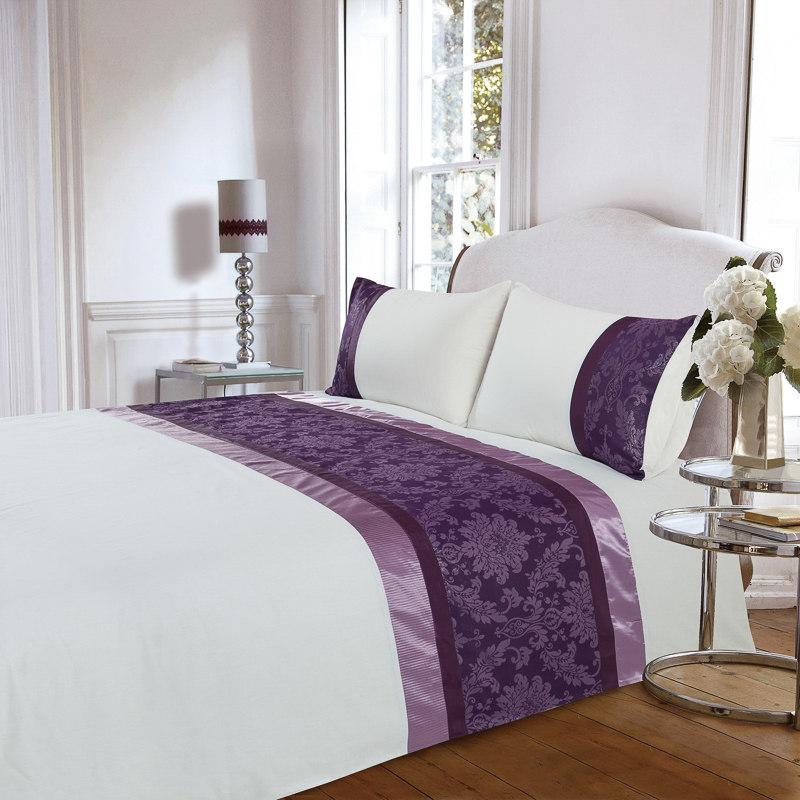 B Amp M Jessica Jacquard King Duvet Set Purple 2914442