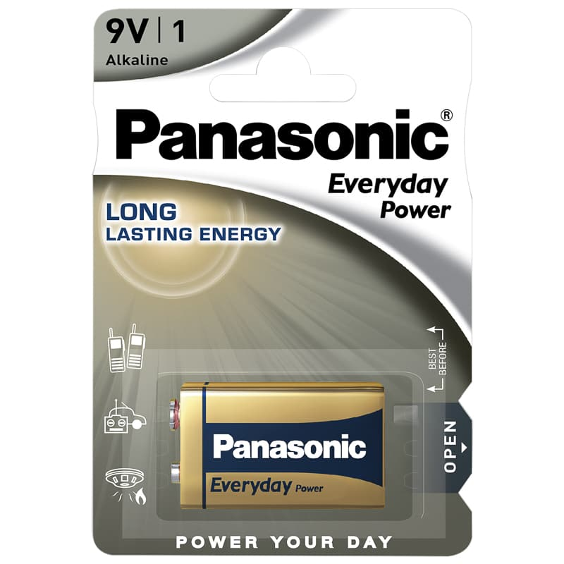 Panasonic Alkaline 9 Volt Battery